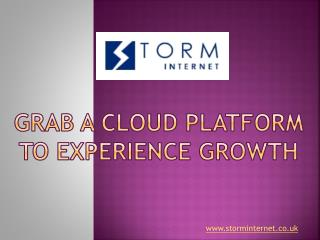 Grab a Cloud Platform to Experience Growth