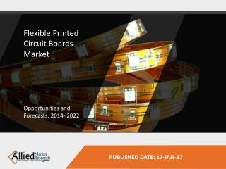 Flexible Printed Circuit Boards Market report, published by Allied Market Research, forecasts that the global market is
