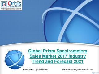 Global Prism Spectrometers Sales Industry 2017 - Trends and Opportunities