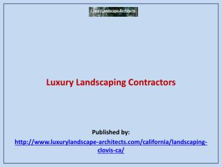 Luxury Landscaping Contractors