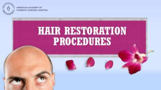 Hair Restoration procedures