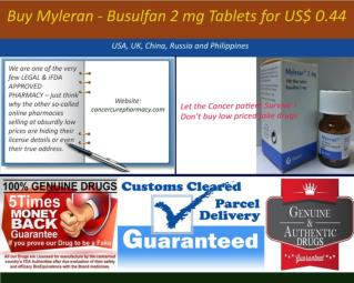 Buy Myleran - Busulfan 2 mg Tablets for US$ 0.44