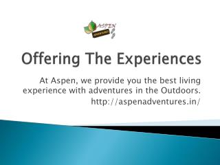 Weekend Gateways by Aspen Adventures