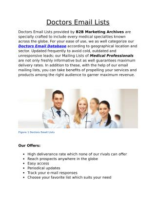 Doctors Email Lists - B2B Marketing Archives