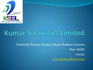 Kumar Share Brokers Limited