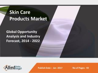 Skin Care Products Market to Reach $179 Billion, Globally, by 2022