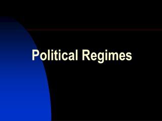 Political Regimes