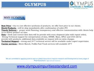 Azithromycin Impurities Manufacturer | Olympus Impurities Suppliers