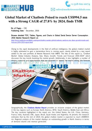 Global Chatbots Market Research Report 2017