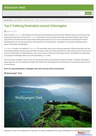 Top 5 Trekking places around Chikmagaluru