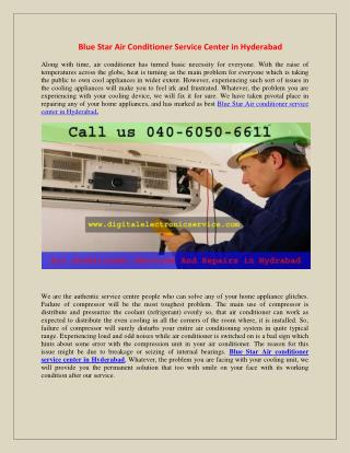 Blue Star Air Conditioner Repair Center in Hyderabad