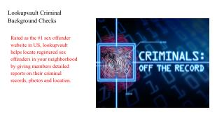 Lookupvault Criminal Background Checks