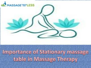 All of us Loves therapy : massage therapy On comfortable massage table
