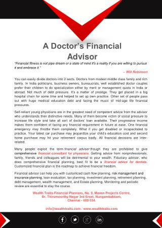 A Doctor's Financial Advice
