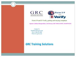 Form I-9 and E-Verify, getting and staying compliant