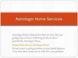 Astrologer Home Services