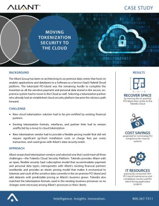 Allant Group Moves Tokenization Security to the Cloud