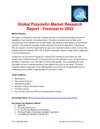 Global Polyolefin Market Research Report - Forecast to 2022