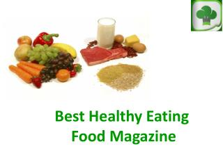Best Healthy Eating Magazine App