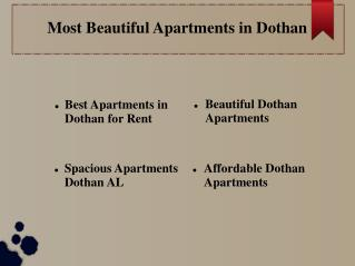 Best Apartments in Dothan for Rent