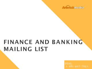 Finance Services Mailing Lists