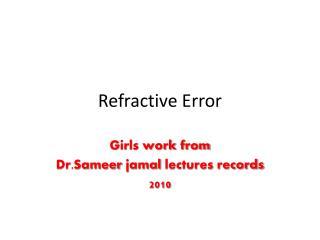 Refractive Error