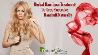 Herbal Hair Loss Treatment To Cure Excessive Dandruff Naturally