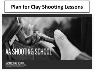 Plan for Clay Shooting Lessons