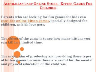Australian cart Online Store - Kitten Games For Children