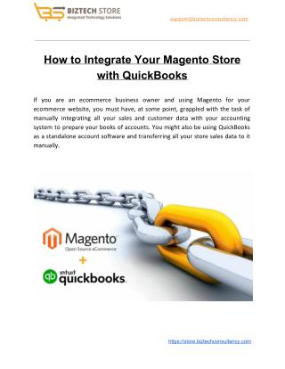 How to Integrate Your Magento Store with QuickBooks