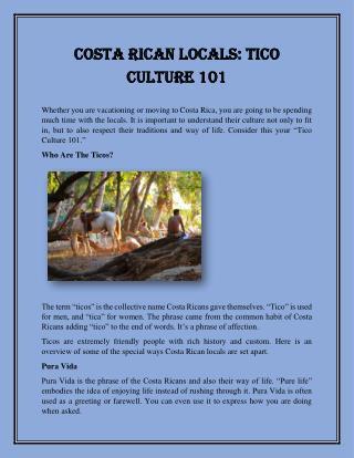 Costa Rican Locals: Tico Culture 101