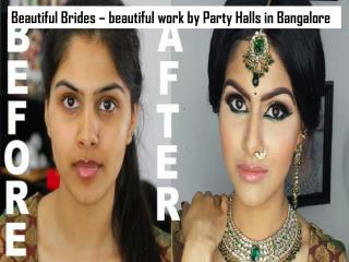 Beautiful Brides – beautiful work by Party Halls in Bangalore