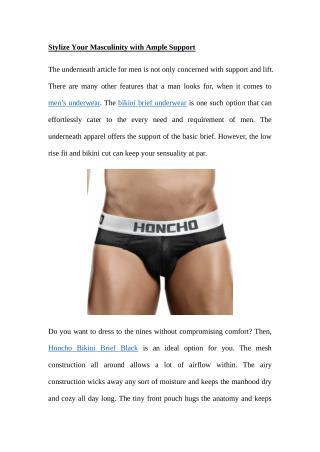 mens underwear, honcho underwear