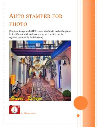GPS stamp to make your traveling beautiful