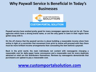 Why Paywall service is beneficial in Today's Businesses