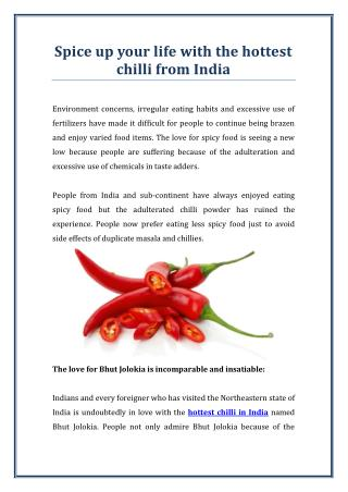 Things You Should Know About Hottest Chilli in India