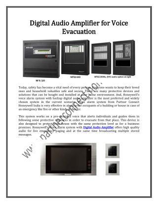 Digital Audio Amplifier for Voice Evacuation