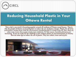 Reducing Household Plastic in Your Ottawa Rental
