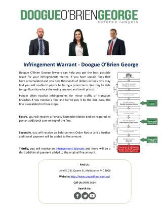 Infringement Warrant - Doogue O'Brien George