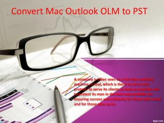 convert OLM to PST File Format
