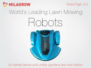 Milagrow RoboTiger 2.0 - India's 1st & Swiftest Lawn Robot