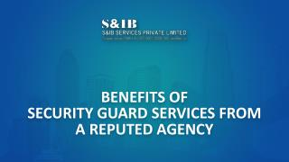 Benefits of Security Guard Services from a Reputable Agency