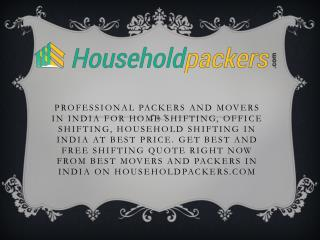 Packers And Movers In Delhi, Gurgaon, Bangalore