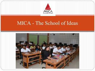 Pursue career with MICA the Best MBA Institutes