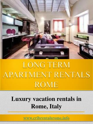 Monthly Luxury Apartment Rentals In Rome
