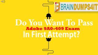 Adobe 9A0-409 Braindumps