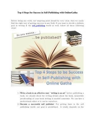 Tips & Tricks for Self Publish a book