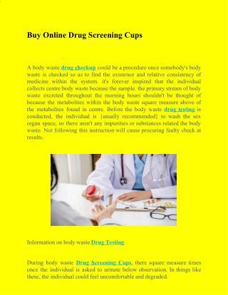 Buy Online Drug Screening Cups