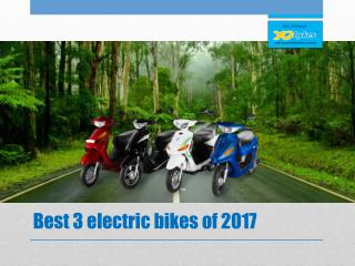 Best 3 electric bikes of 2017