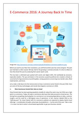 E-Commerce 2016: A Trip Back In Time